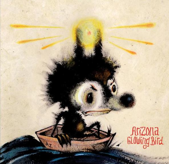"CD cover art fpr Arizona ""The Glowing Bird"""