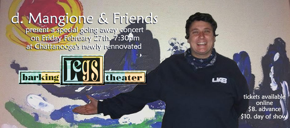 Buy advance tickets online for d. Mangione & friends @ Barking Legs Theater